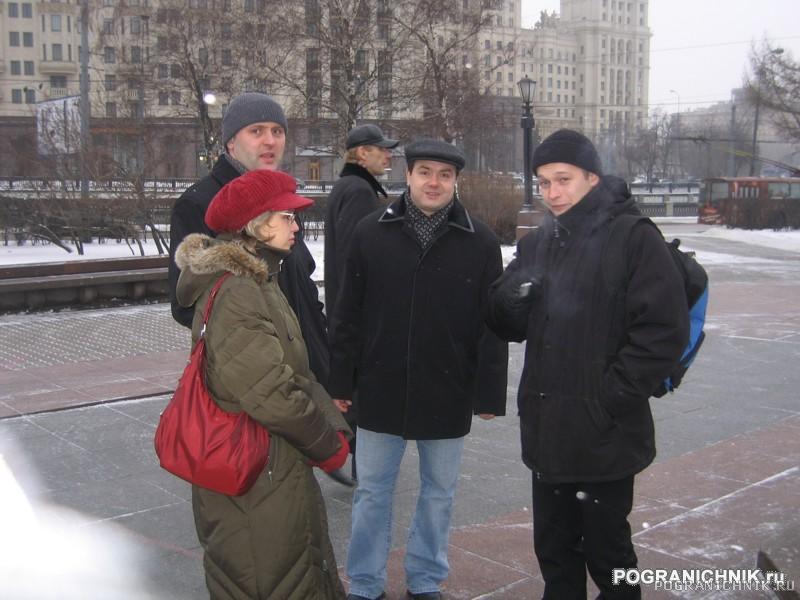 После экскурсии у памятника Пограничникам.