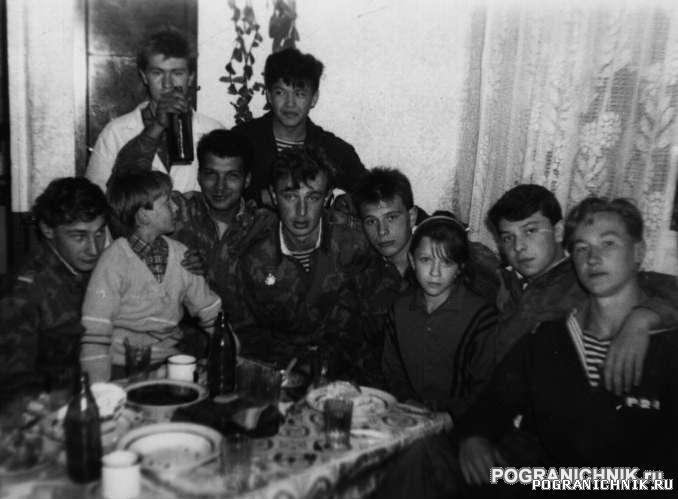 СВПО. Новогдний стол на ПГК Усть-Камчатск 1991 г.