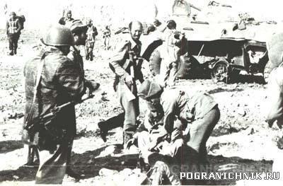 103.Взрыв противотанковой мины-2 раненных пограничника и 5 а