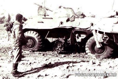 105.Контуженный солдат-водитель БТР-70. Вместе с ним подорва