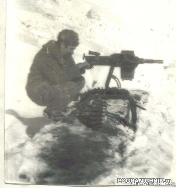 Саша Ярмолович на позиции АГС, Муштив, Вышка, зима 87 года