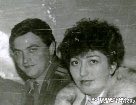 Уважаемый погранцами НЗ Слипчук А.П. с супругой.