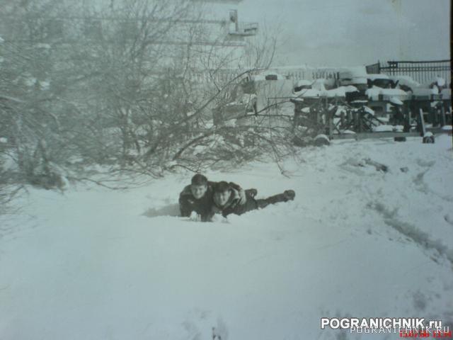 Снег в Ялте. Я и Рябинин А