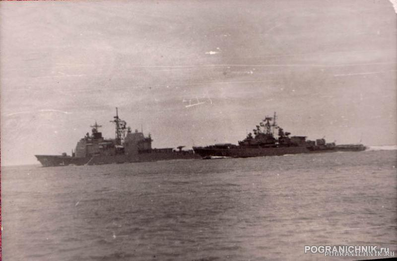 """5 ОБПСКР. Выдворение ракетного крейсера """"Йорктаун"""""""