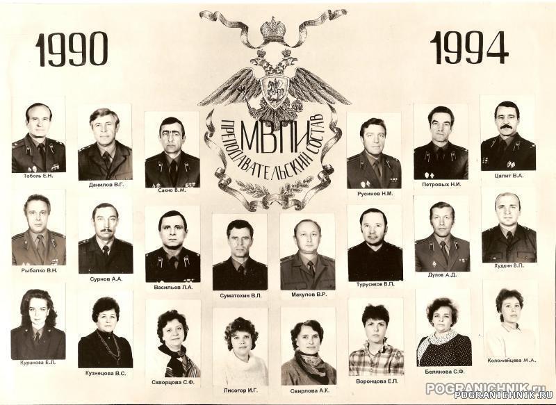 Выпуск 90-94 Преподавательский состав