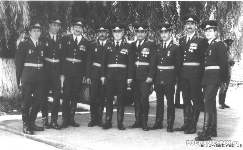 Октемберянский ПОГО. Офицеры ШСС. 1988г.