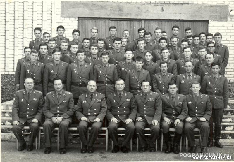 Сборы выпускников училищ КЗПО 1985 г. Брест