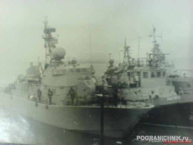 Первый заход ПСКР-107 в 3 ОБСКР. 1989г