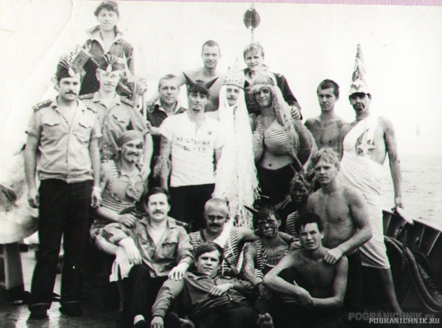 день ВМФ 1983 года Нептун на корабле