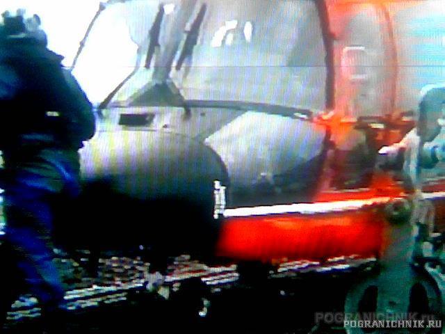 Вертолёт БОХР на палубе Дзержинского