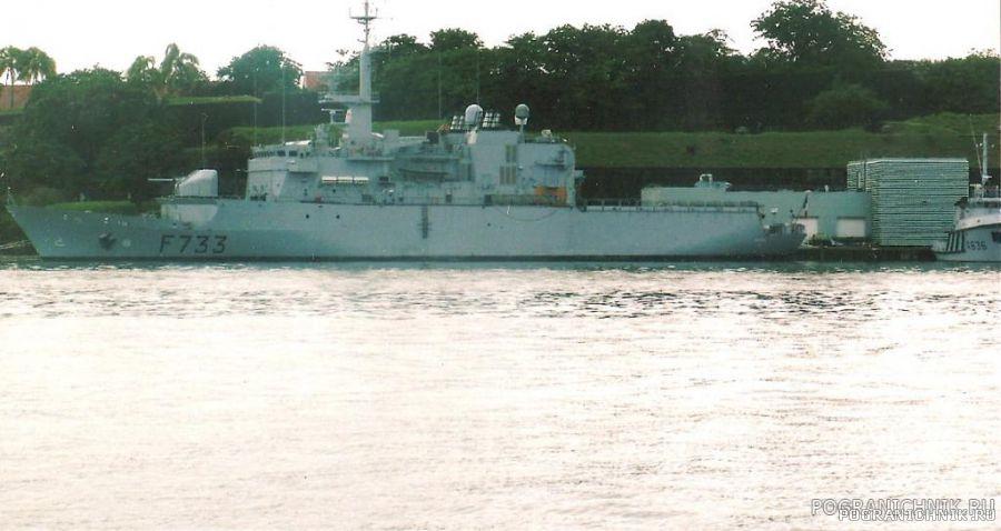 """Французский фрегат """"Ventоse""""в порту Форт-де-Франс"""