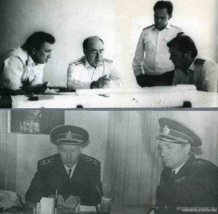 Верх- флагманские спецы у комбрига Низ - замполит с Кабановы