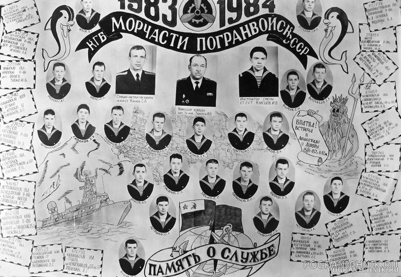 1984 год - выпуск отделения 12 роты