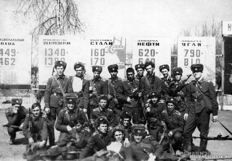12 группа. Март 1980 г. ...и после марш-броска.