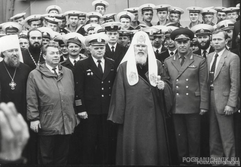 Патриарх Алексий II на борту корабля