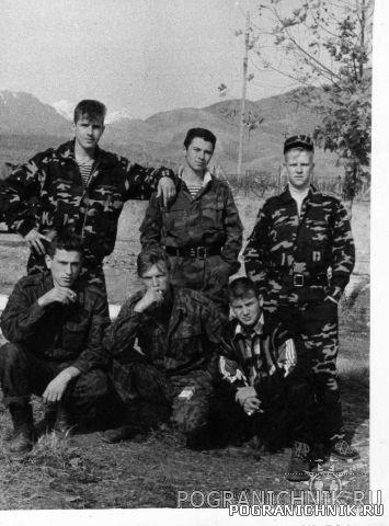 Бойцы в/ч 3807 в Таджикистане