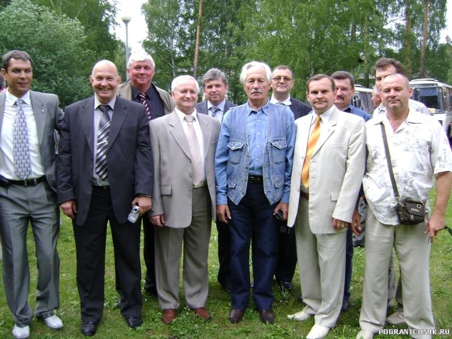 С комбатом Герасимовым Л.П. 25-летие выуска