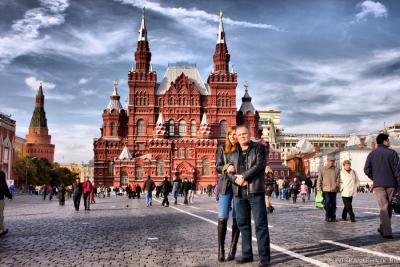 Аленка и Гоша на Красной площади