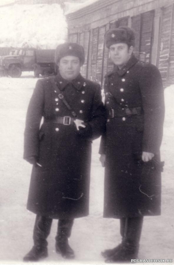 Подполковник Гаврильченко и капитан Величко.1983 год.