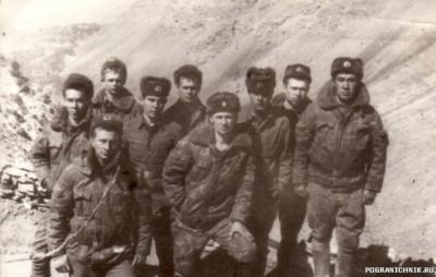 "ст. л-т А. Москаленко и наша ""точка"", январь 1986г"
