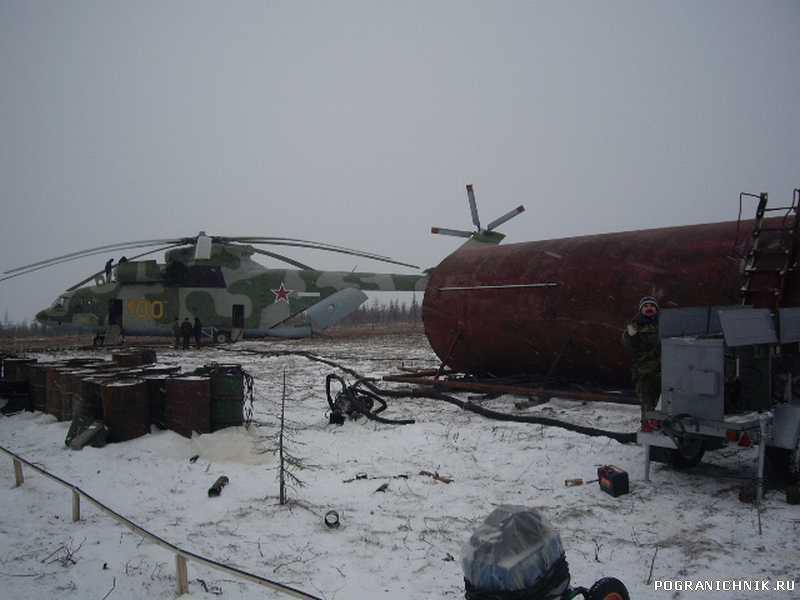 Работа авиации ФСБ в интересах Пограничников