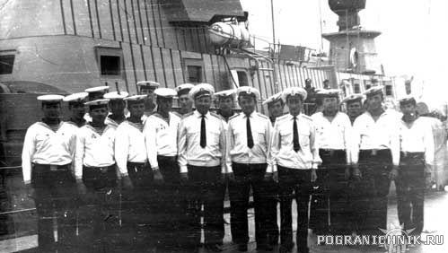 ПСКР-630. 1973 г. Первый экипаж корабля.