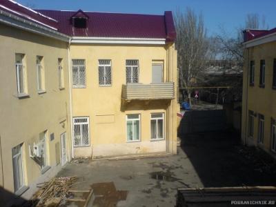 Внутренний двор штаба с окна музея части