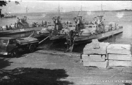Казакевичево-корабли готовятся к выходу на границу