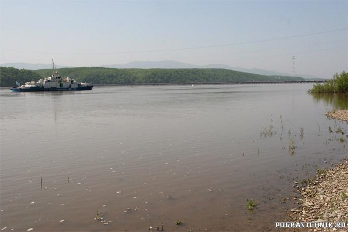 ПСКР пр 1248 протока Амурская ,возвращение с границы в базу