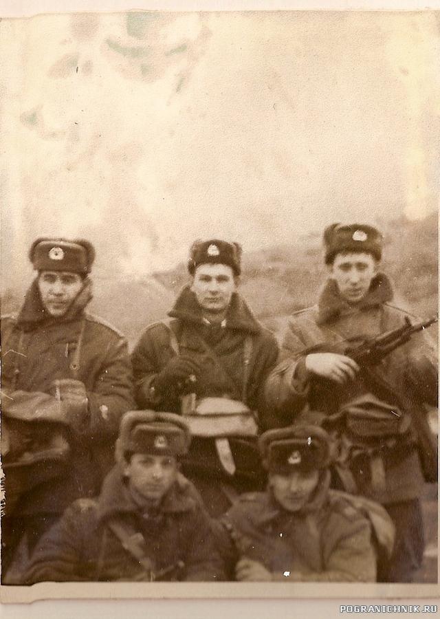 Тактические занятия в пригороде г. Новороссийска. Зима 1987