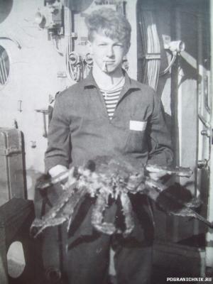 Камчатский краб на дальней заставе из краболовки