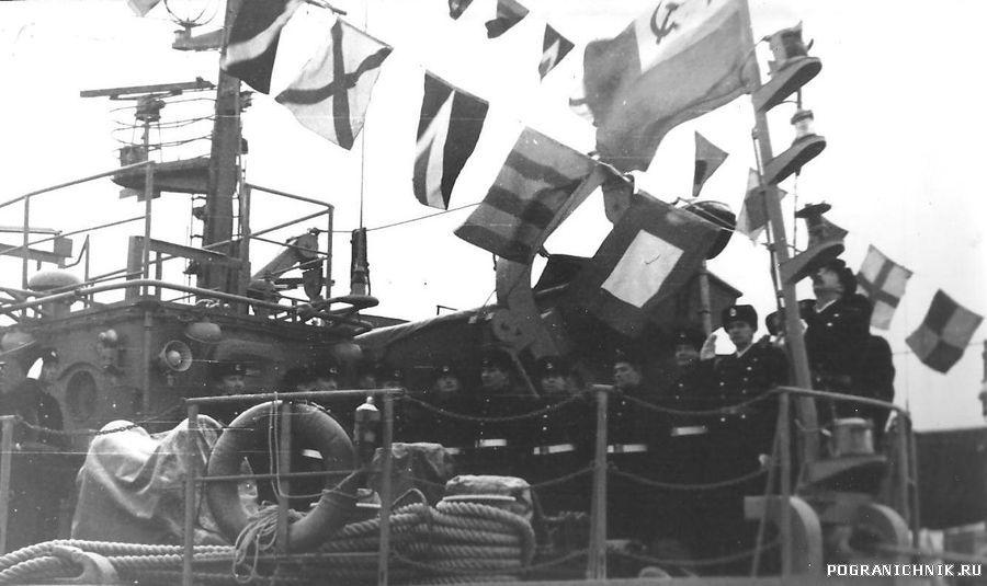 Первое поднятие флага на ПСКР452