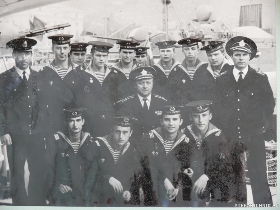 1977 г. Балаклава. Экипаж ПСКР-50