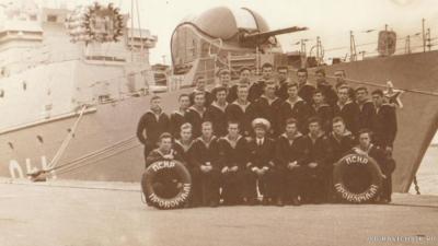 Экипаж =Проворного= и старпом Суханов-1982г.
