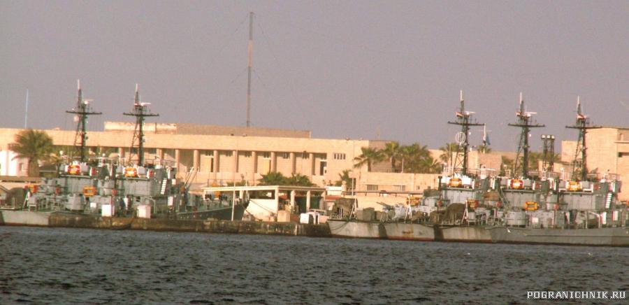 египетский флот в Александрии