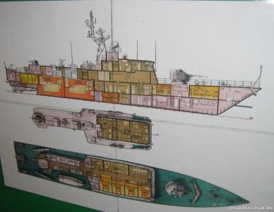 "ПСКР ""Бриз"" - схема корабля"
