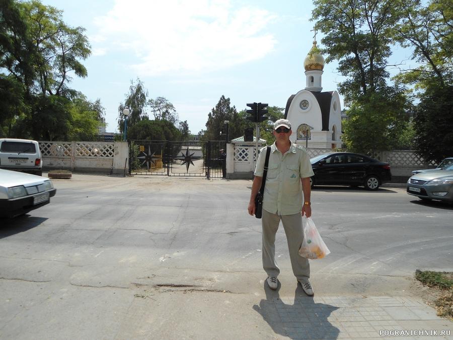 Переход на полигон, Анапа, июль 2012