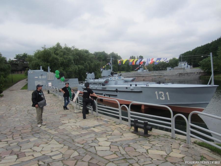 У торпедного катера в парке Победы