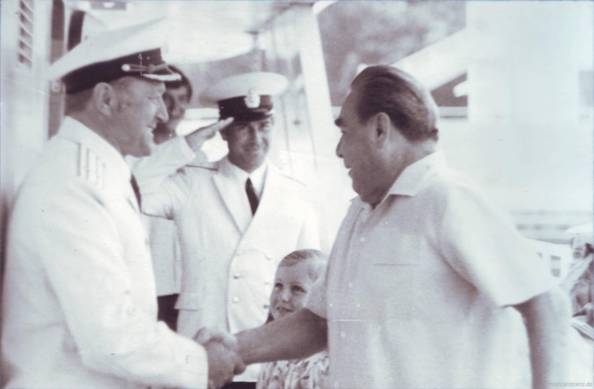 лето 1980 г. Причал гос. дачи Л. И. Брежнева в Ливадии