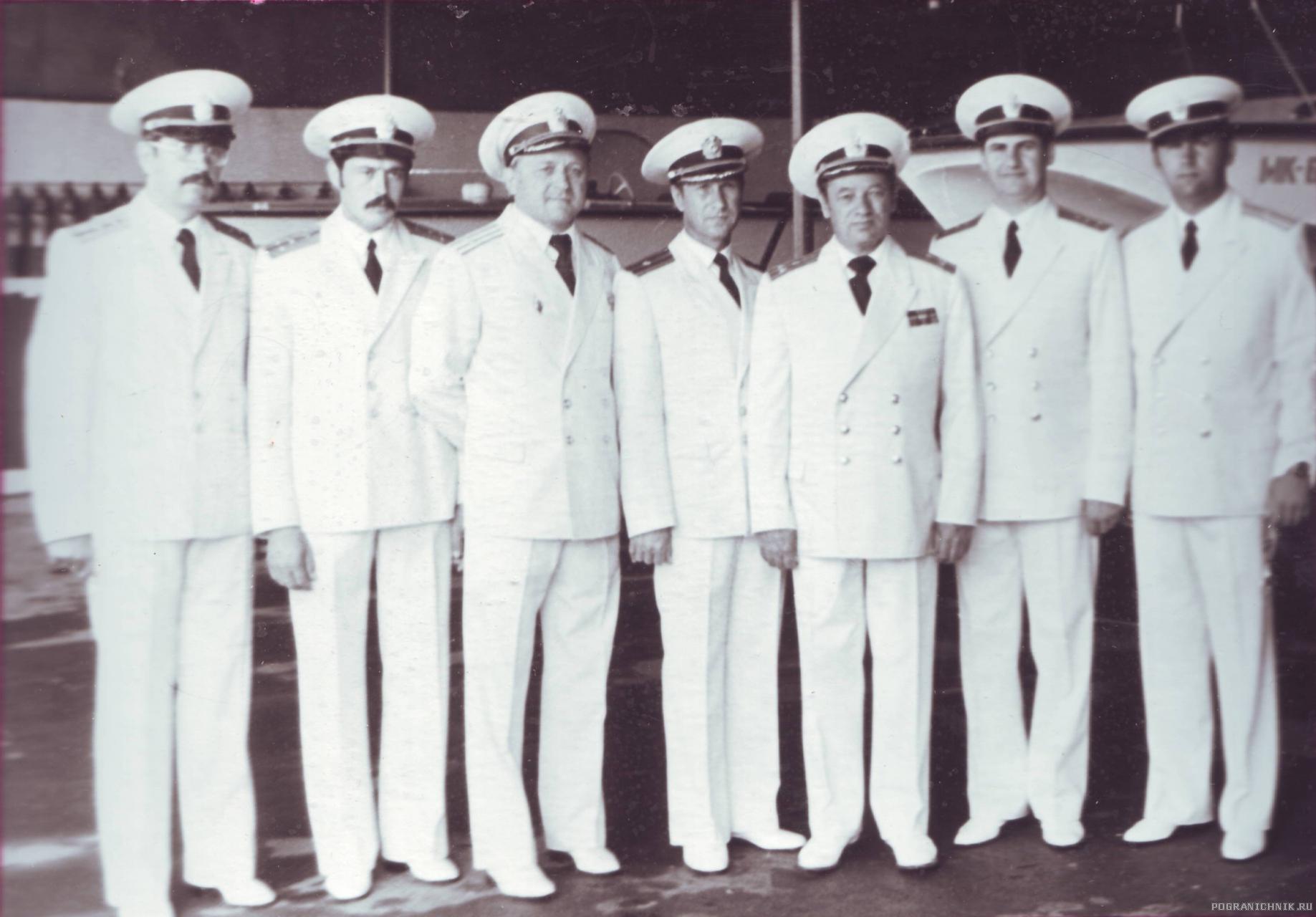 Офицеры Ялтдивизиона, 1980 г.
