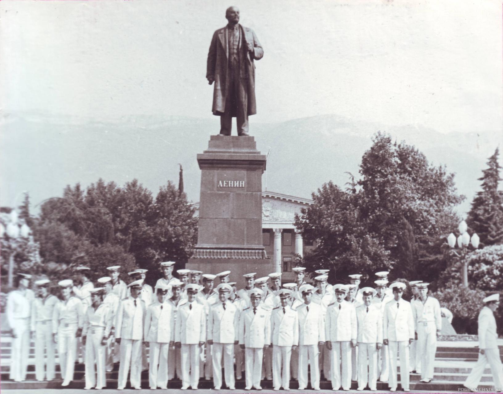 1980 г. День ВМФ. Ялта. Экипажи ПСКР «Крым», ПСКА 534 и ПОК ПСКА 530.