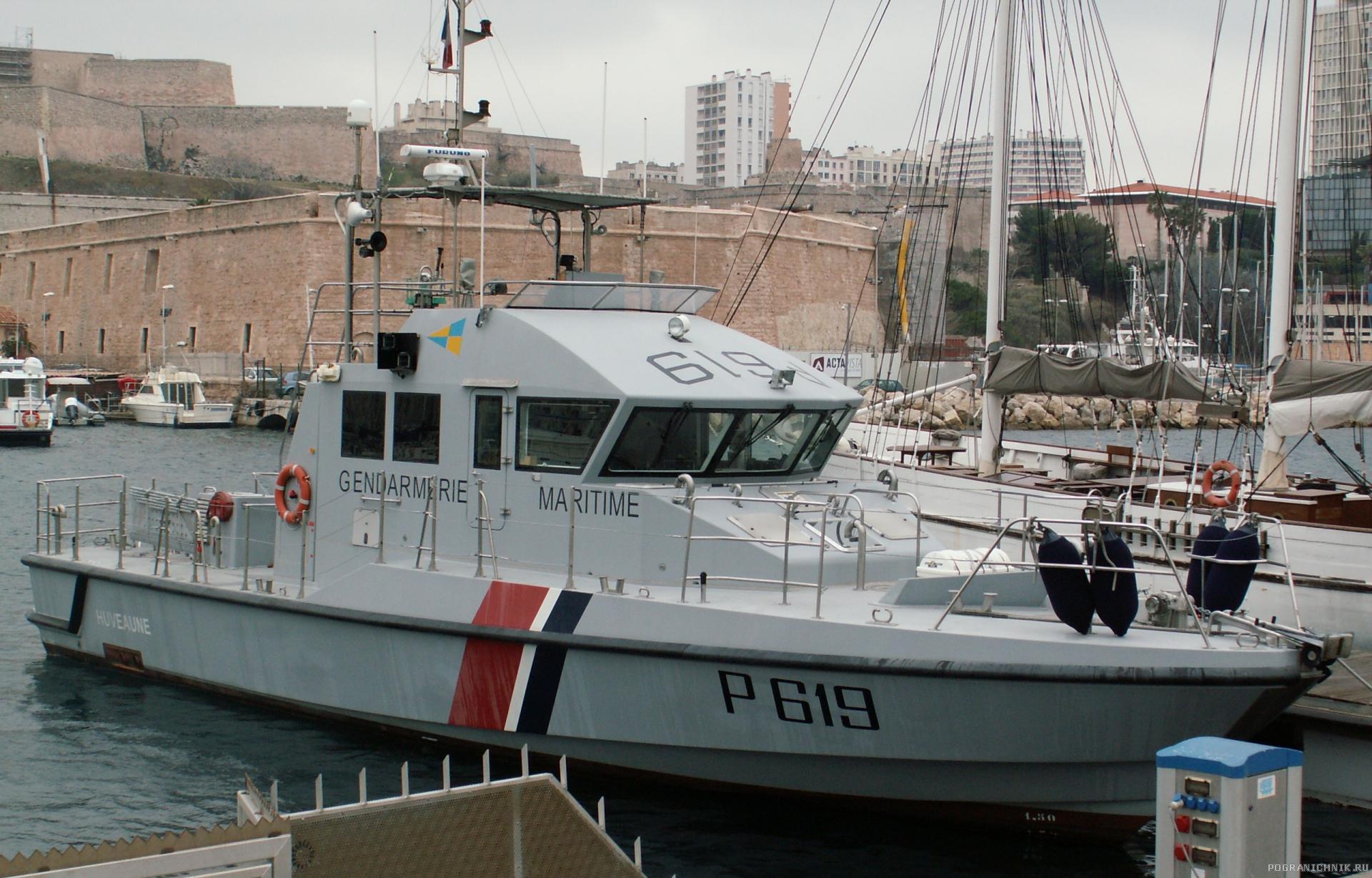 Катер морской жандармерии Франции Huveaune