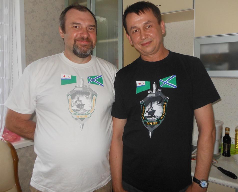 Я и Игорь Каргин. Руль ПСКР 642