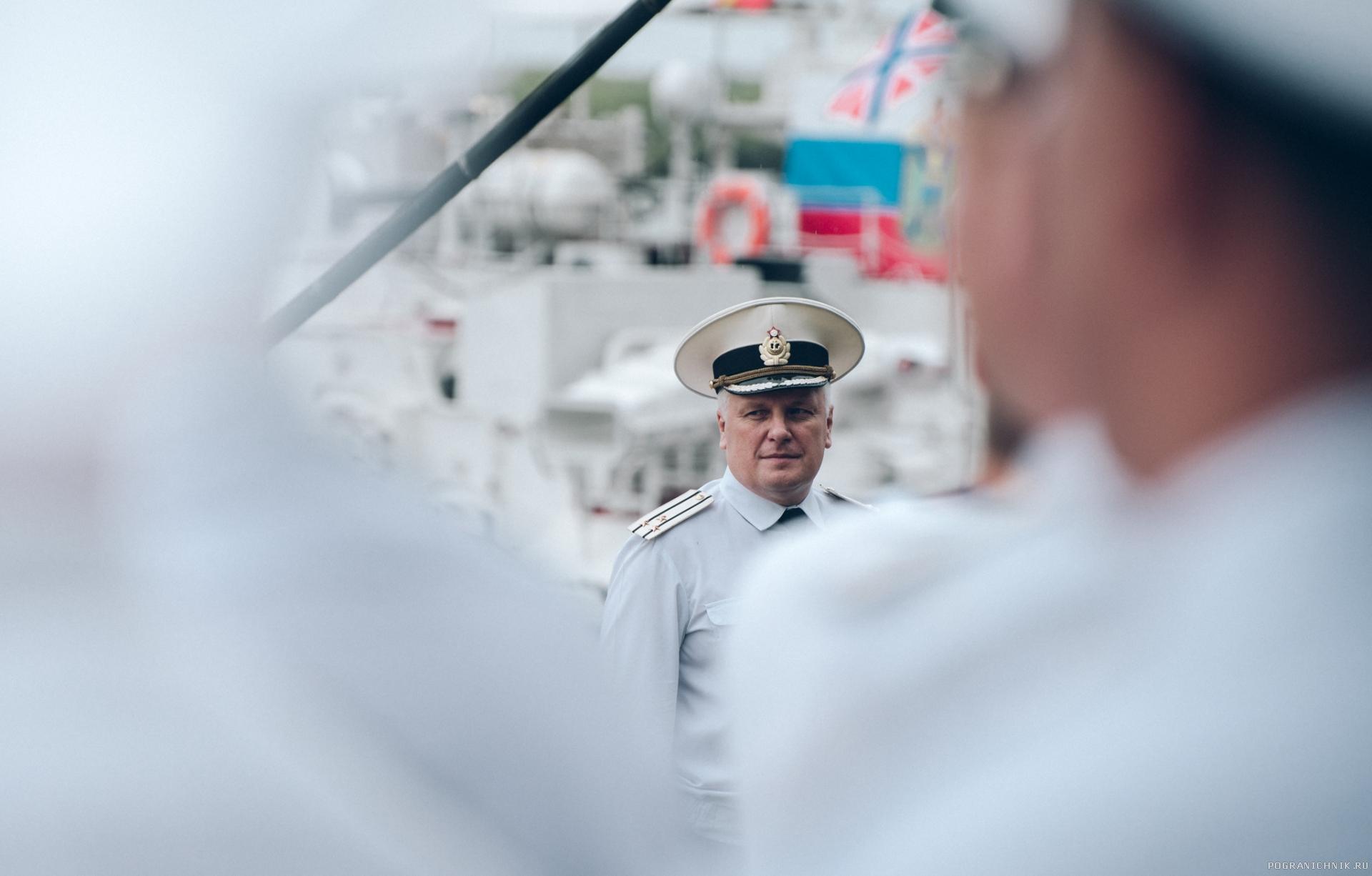 Комбриг капитан 1-го ранга Карасев 28.07. 2017 г.