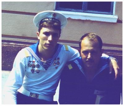 Я с Саней Мазуром 1985