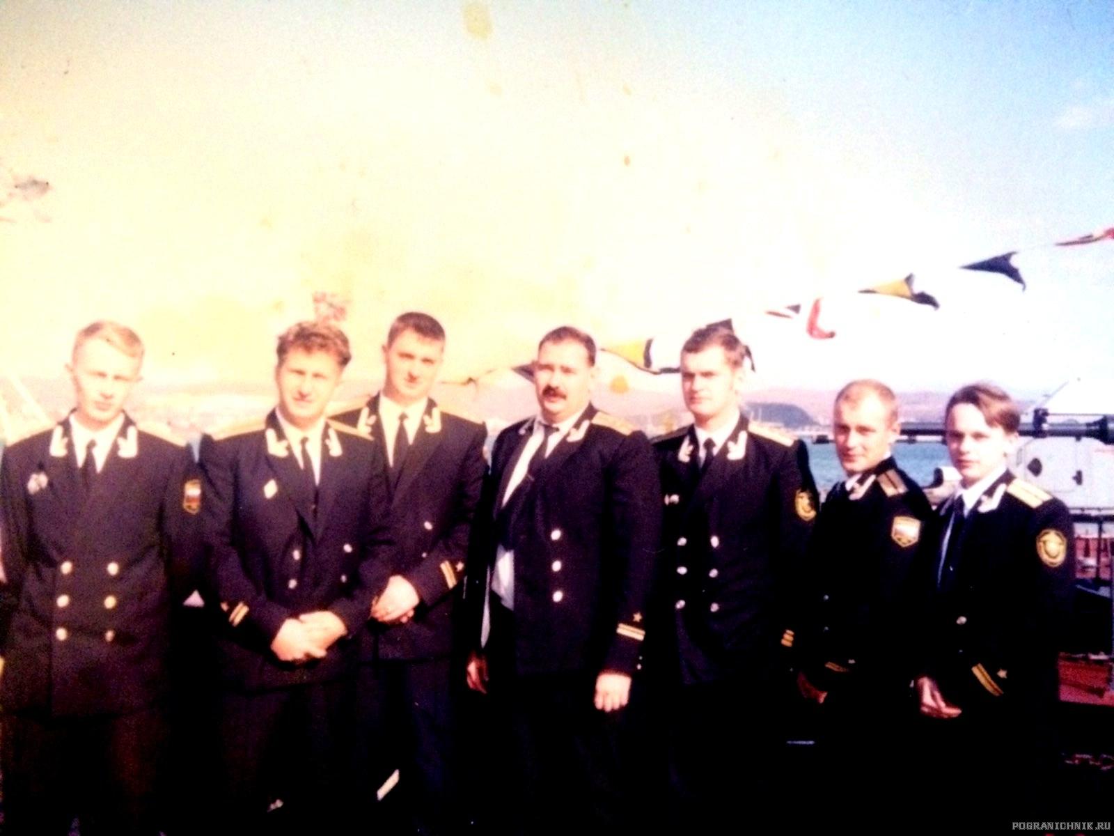 Офицерский состав ПСКР-809. 1999 год.